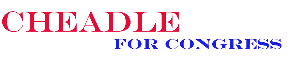 banner for Cheadle for congress